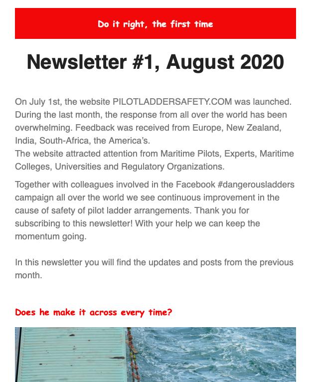 Newsletter #1, August 2020