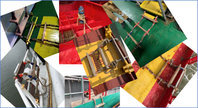 Call for action : Online survey: Securing methods of pilot ladders at intermediate length: an inventory